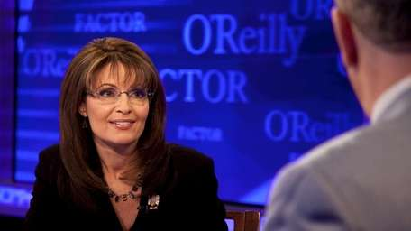 Former U.S. vice presidential candidate Sarah Palin makes