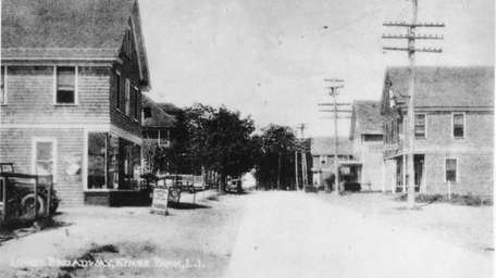 Main Street, Kings Park, in 1923. You can
