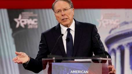 National Rifle Association CEO Wayne LaPierre speaks at
