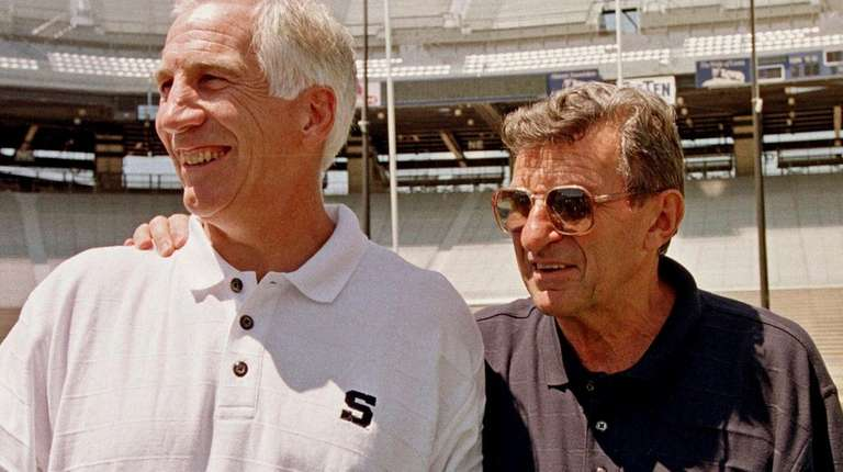 Jerry Sandusky with Penn State University coach Joe