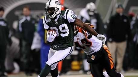 Jerricho Cotchery #89 of the New York Jets