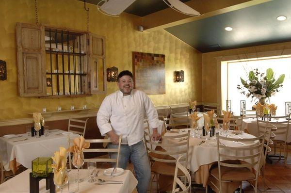 Chef-owner Matthew Guiffrida in his restaurant Muse, at