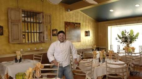 Chef-owner Matthew Guiffrida in his restaurant Muse, at