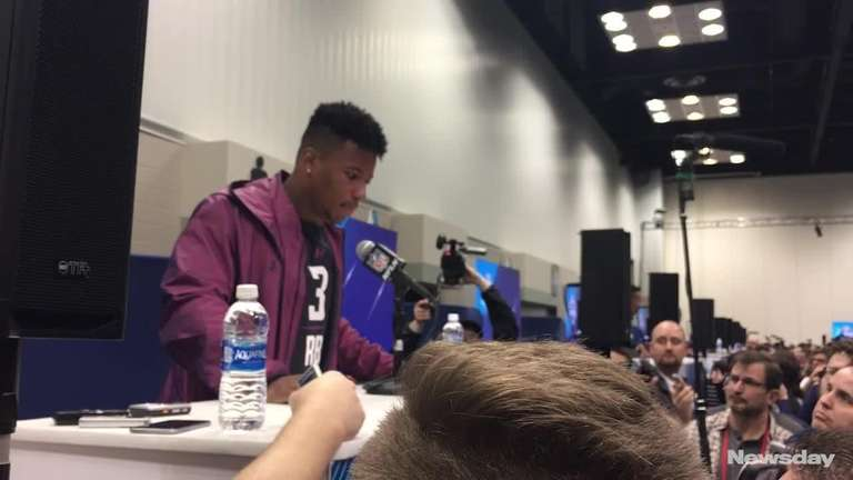 Saquon Barkley, Quenton Nelson crush bench press at NFL Combine