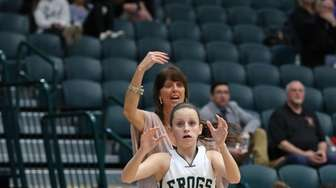 Carle Place's Amanda Leary #5 waits for a