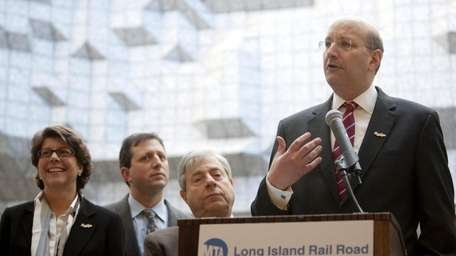 MTA Chairman and CEO Jay Walder speaks at