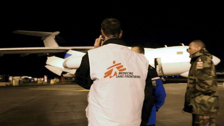 An employee of French NGO Doctors Without Borders