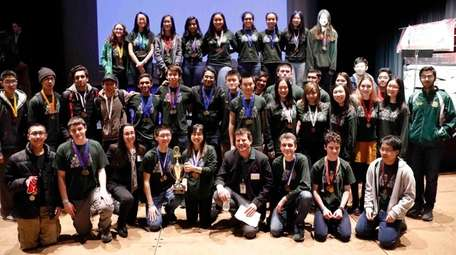 A Science Olympiad team from Ward Melville High