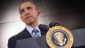 President Barack Obama delivers remarks at a national
