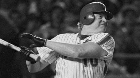 Rusty Staub, pinch hitting for the Mets, watches