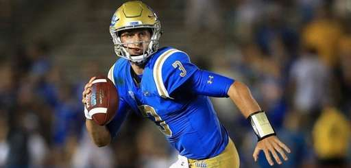Josh Rosen of UCLA rolls out against Texas