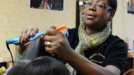 Yolette David, owner of Myoda Salon International Inc.,