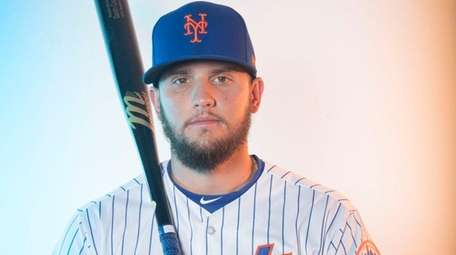 Mets infielder Gavin Cecchini during photo day on