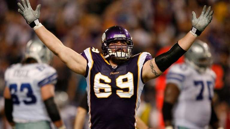 Defensive end Jared Allen of the Minnesota Vikings