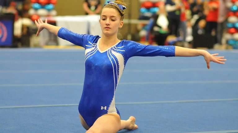 Haylie Kelly of Babylon performs her floor routine