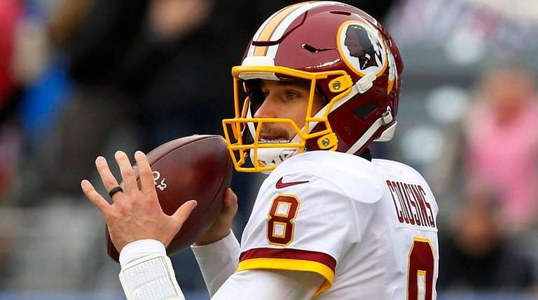Kirk Cousins of the Redskins looks to pass