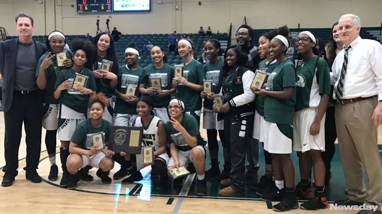 The Elmont girls basketball team defeated North Shore,