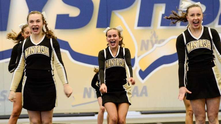 Wantagh competes in the state cheerleading championships at
