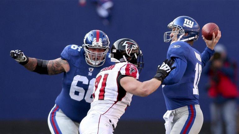 Giants left tackle David Diehl is heading to