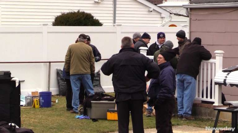 Suffolk County police investigators spent Sunday, March 5,