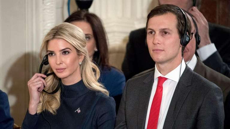 Ivanka Trump and Jared Kushner attend a news