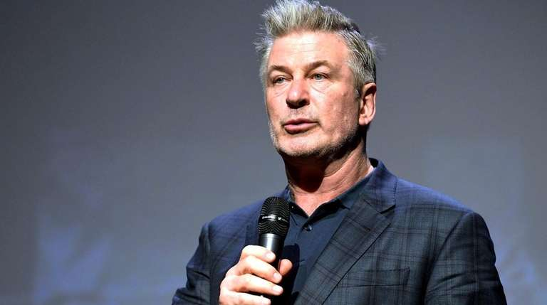 Alec Baldwin speaks at an event Jan. 31,
