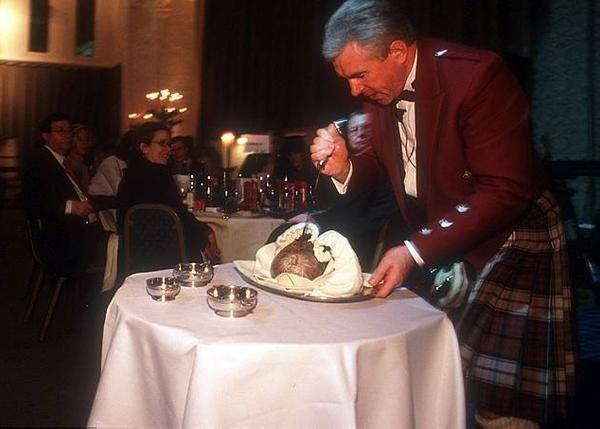 Burns Night festivities in Glasgow
