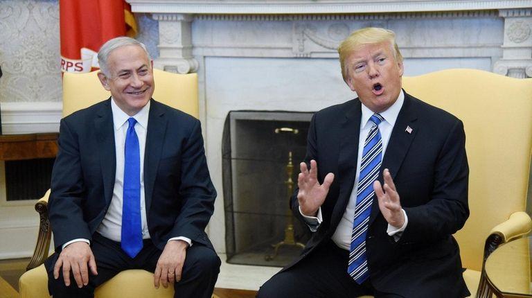 Israel Prime Minister Benjamin Netanyahu meets with President