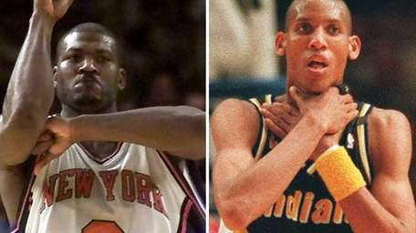 Larry Johnson's four-point play propelled New York to