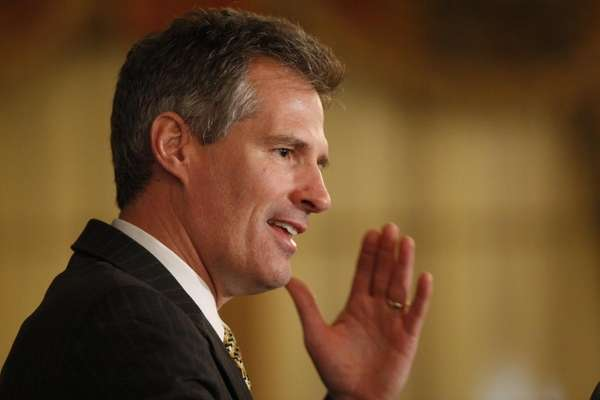 U.S. Sen.-elect Scott Brown, R-Mass., speaks at a