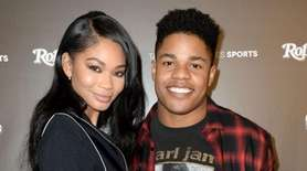 Model Chanel Iman and NFL player Sterling Shepard