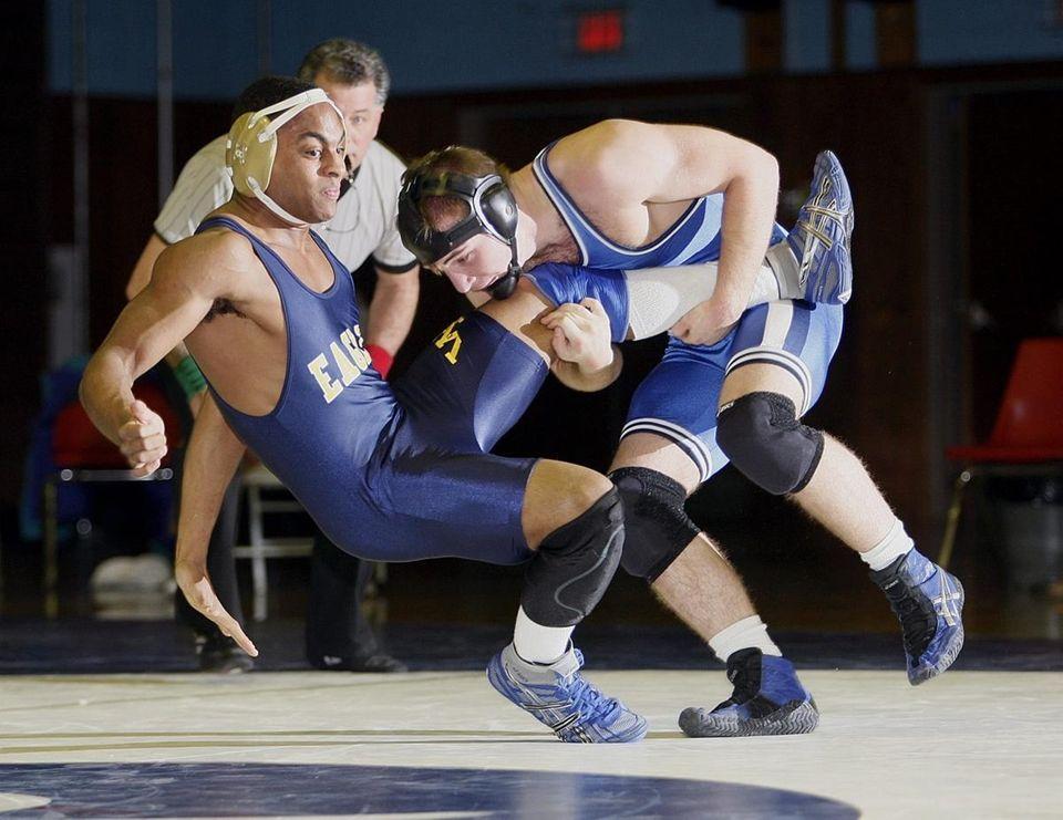 Riverhead's Myles Buhner takes down West Babylon's Frank