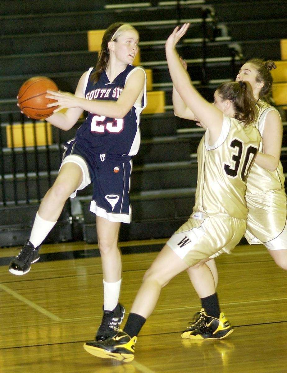 Wantagh's Meaghan Smith (30, right), tries to stop