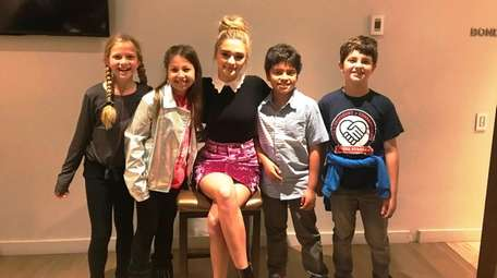 Actress Lizzy Greene meets with Kidsday reporters Alivia