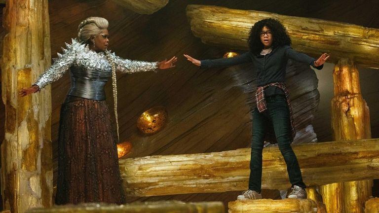 Oprah Winfrey and Storm Reid in a scene