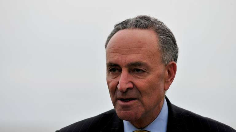 Sen. Charles Schumer announces the introduction of legislation