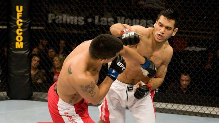 Brooklyn's Phillipe Nover, right, fights Rob Emerson at