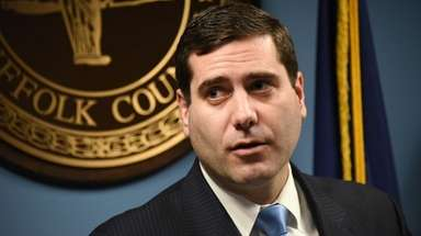 Suffolk County District Attorney Timothy Sini on Feb.
