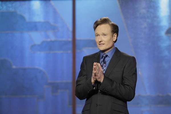 Conan O'Brien appears on the final episode of