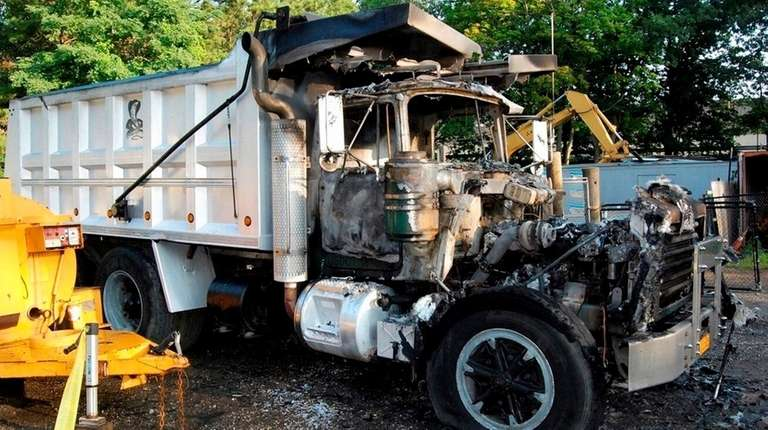 A truck that was torched in Riverhead on