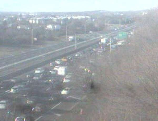 A traffic camera shows a view of congestion