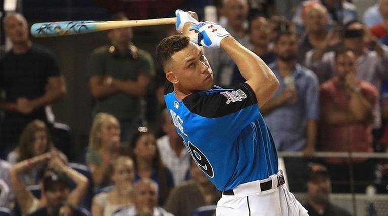 Yankees outfielder Aaron Judge competes in the Home