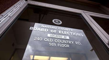 The entrance to the Nassau County Board of