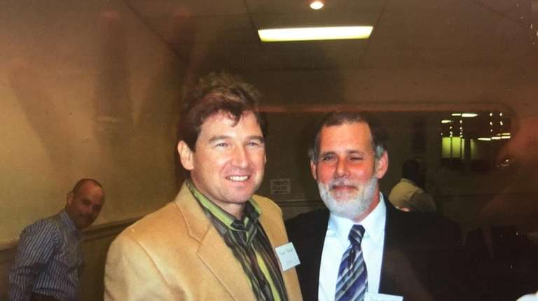 Robert M. Beatty, right, shown with longtime friend