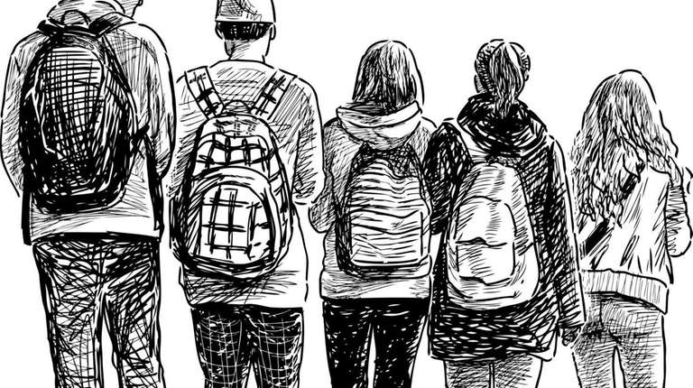 A sketch of students.