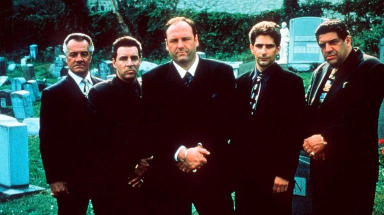 Tony Sirico, left, Steven Van Zandt, James Gandolfini,
