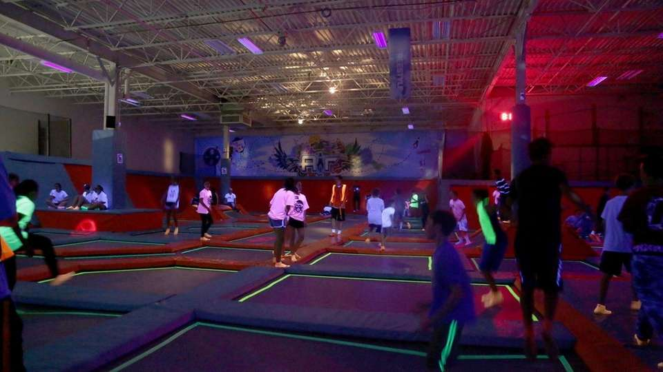 Air Trampoline Sports in Ronkonkoma Glow in the