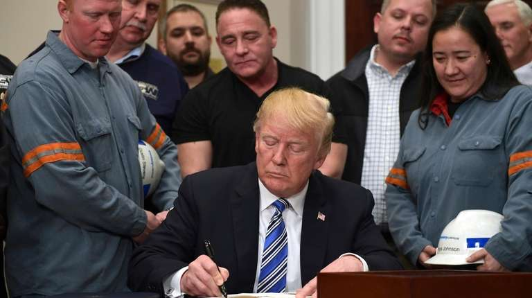 President Trump signs a proclamation on steel imports