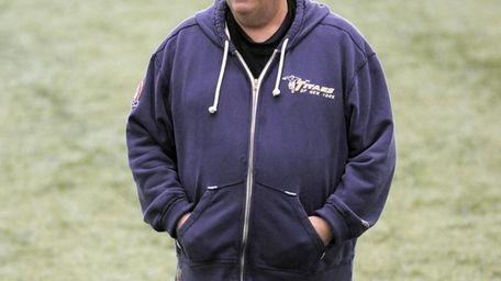 New York Jets coach Rex Ryan looks on