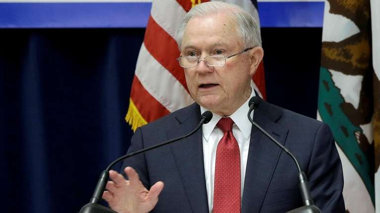 Attorney General Jeff Sessions addresses the California Peace